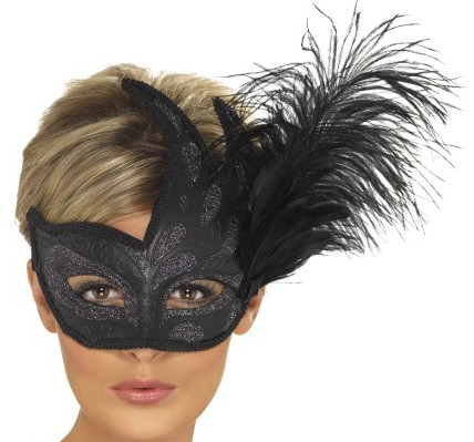 Glitter Eye Mask with Feather (PP04109)