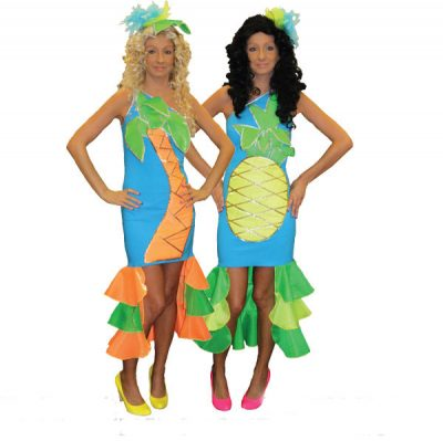 Pineapple and Palm Tree Dress Hire