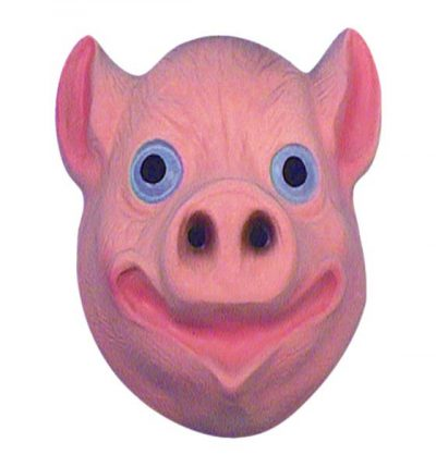 Plastic Pig Mask (PP00567)