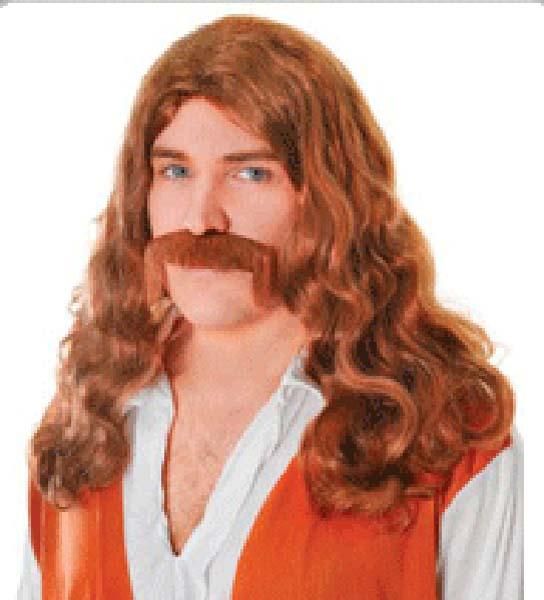 Hippie Man Wig n Tash (PP01300)