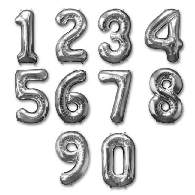 Silver Numbers (Large)